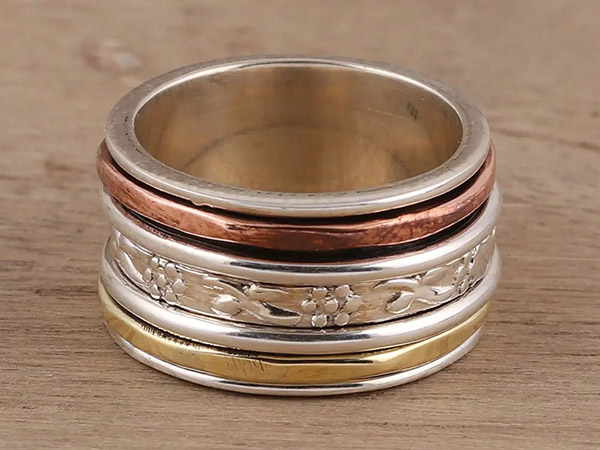 Spinner Rings in Silver, Copper & Brass - SOLD OUT